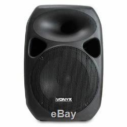 Paire Enceintes Actives + Système De Sonorisation Passive 12 Woofer 700w Dj Disco Party