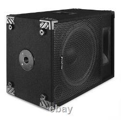 Paire Fenton Csb15 Pa Haut-parleurs Actifs 15 Home Karaoke Disco Party 1600w Power