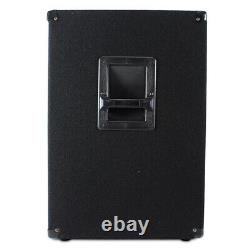 Paire Skytec 18 Active Powered Subwoofers Bass Bins Dj Pa Disco Speakers 2000w