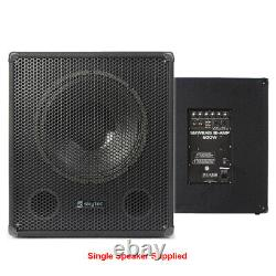 Paire Skytec Smwba15 15 Inch Active Powered Dj Disco Party Subwoofers Subs 1200w