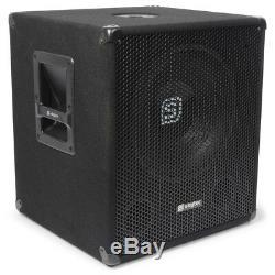 Paire Skytec Smwba15 15 Pouces Dj Actif Powered Disco Party Subwoofers Subs 1200w