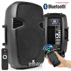 Paire Vonyx Active Powered Dj Disco Pa Haut-parleurs Wireless Bluetooth 12 1200w