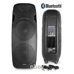 Paire Vonyx Active Powered Dual 15 Bluetooth Dj Disco Pa Haut-parleurs Câbles 1400w