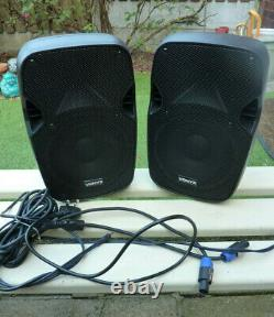 Paire Vonyx Ap800a Active Powered 200w 8 Disco Party Speakers