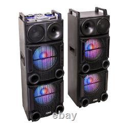 Party Light Sound Party-box412 1200w 2 X 12 Système De Son Disco Endommagé