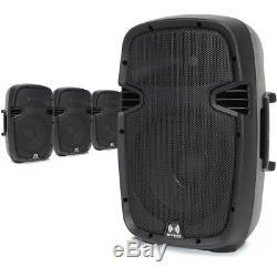 Petit 10 Haut-parleurs Portable Set Haute Puissance (x4) Mobile Dj Disco Party Pa