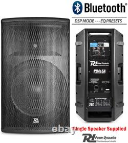 Power Dynamics Paire Active Dj Speakers Pa Pro Bi-amp Disco System Bluetooth 15