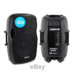Pro Audio Ap1500a V3 15 Enceintes Actives 1600w Actives Dj Disco Pa Enceinte De Scène