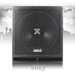 Professional 15 Active Powered Subwoofer Bass Bin Dj Disco Pa Sous-haut-parleur 800w