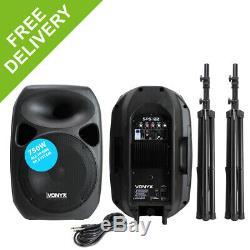 Puissant V6 12 Actifs Disco Pa Haut-parleurs Mobile Dj Stands Portables Sound System