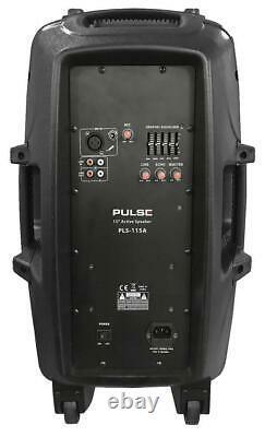 Pulse 15 Abs Actif Haut-parleur Haut-parleur Dj Disco Pa