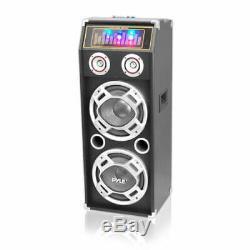 Pyle Disco Jam 1000w 2 Way Dj Haut-parleur Bluetooth Avec Feux Clignotants Psufm1035a