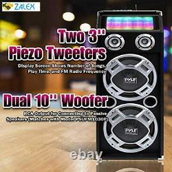 Pyle Psufm1035a 1000w Disco Jam Powered Two-way Bluetooth Active Pa Speaker Syst