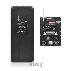 Pyle Psufm1035a Disco Jam 1000 Watt 2 Way Dj Bluetooth Led Haut-parleur (2 Pack)
