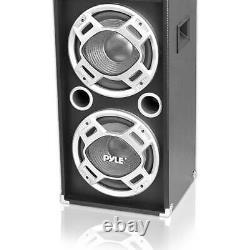 Pyle Psufm1035a Disco Jam 1000 Watt 2 Way Dj Bluetooth Led Haut-parleur (4 Pack)