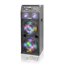 Pyle Psufm1245a Système D'enceintes De Sono Bidirectionnelles Alimentées Par Disco Jam De 1400 Watts Avec Usb / Sd