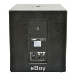 Qtx 3000w Pa System 2 X Qlb15a Subwoofer + Qx15a Active Speaker Dj Disco Ensemble
