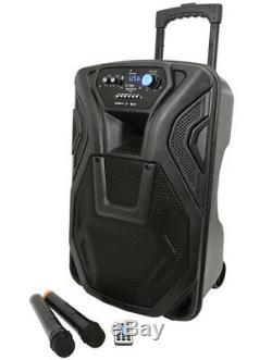Qtx Busker 12, 12 Portable Dj Disco Pa Inc Sans Fil Mics, Bluetooth Usb Sd