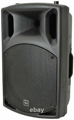Qtx Pa System 2 X Qlb15a Subwoofers + 2 X Qx15a Active Speakers Dj Band Disco