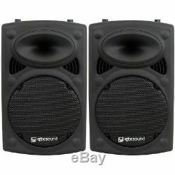 Qtx Qr12k Paire De Haut-parleurs Actifs Pa Dj Disco Package