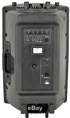 Qtx Qr15k 15 400w Active Speaker Portable Dj Disco Son Système De Sonorisation