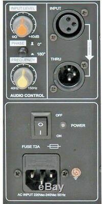 Qtx Qt18sa 1000w Haut-parleur De Grave Pour Bass Subwoofer Actif Dj Actif Dj Disco 18