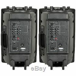 Qtx Qx12a 12 Paire D'enceintes Actives Pa Paquet Dj Disco 800w