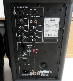 Qtx Qx12a Active 12 Powered Pa Haut-parleurs (paire) 400w / 800w Dj, Disco, Band