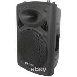 Qtx Sound Qr15k Active Powered 400w 15 Moulé Dj Disco Karaoke Haut-parleur Pa
