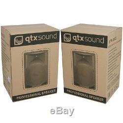Qtx Sound Qs15a 15 1400w Enceinte Active Disco Dj Pa Pa Haut-parleurs Abs Paire