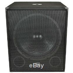 Qtx Sound Qt18sa 18 Caisson De Grave Actif 1000w Disco Dj Bass Bass Single
