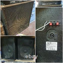 Qtxsound Dj Disco Pa Speaker System 2x10 Cabines 1x18 Sous Actif Plus Qa2400 Amp
