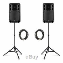 Rcf Art315-a (mk4) Actif 15 Président 1600w Système De Sonorisation Bundle Dj Disco