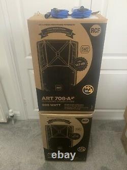 Rcf Art 708a Actifs Pa / Disco Haut-parleurs (paire) Boxed Et Garantie