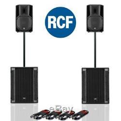 Rcf Art 710-a Mk4 Actif Dj Disco Pa Président (paire) + Rcf Sub 705-as II (paire)