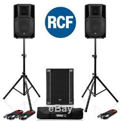 Rcf Art 712-a Mk4 Actif Dj Disco Pa Président (paire) + 1x Rcf Sub 705-as II