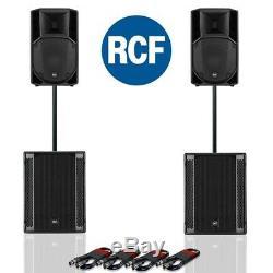 Rcf Art 712-a Mk4 Enceinte Active Dj Disco (paire) & Rcf Sub 705-as II (paire)