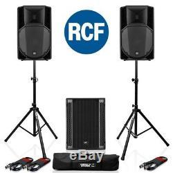 Rcf Art 715-a Mk4 Actif 15 Dj Disco Pa Président (paire) + Rcf Sub 705-as II