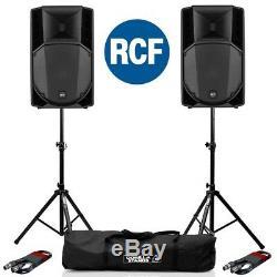 Rcf Art 735-a Mk4 Actif Dj Disco 15 Pa Président (paire) Avec Supports Et Câbles