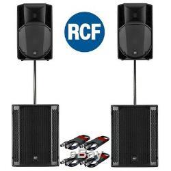 Rcf Art 735-a Mk4 Actif Dj Disco Pa Président (paire) Et Rcf Sub 705-as II (paire)
