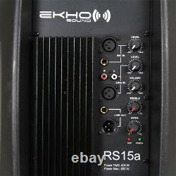 Série Rs Active Powered Pa Speaker Mobile Dj Disco Full Range 15 Woofer 800w