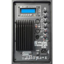 Skytec 12 Active Bluetooth Disco Dj Haut-parleur Moniteur De Sonorisation Portable 600w