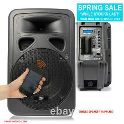 Skytec 12 Active Bluetooth Disco Dj Speaker Portable Pa Wedge Monitor 600w