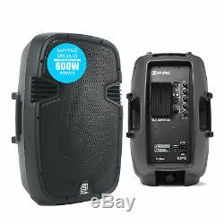 Skytec Audio Spj12a V3 12 600w Active Dj Disco Pa Haut-parleur De Scène Club