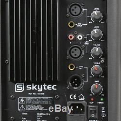 Skytec Sp1200a Moniteur De Cale Disco À Haut-parleur Dj Actif 600 Karaoké À Alimentation Active 12