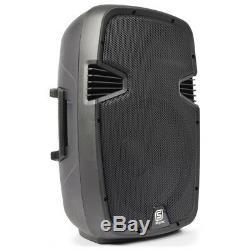 Skytec Spj-1200a 12 Systèmes D'enceintes De Sonorisation Portables Amplifiés Actifs Dj Disco 600w