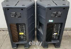 Soundlab 15 Active Powered Pa Haut-parleurs Paire 250w Rms Dj Disco Plastic G592d