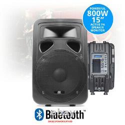 Sp1500abt 15 Pouces Haut-parleur Bluetooth Actif Accueil Dj Disco Pa Monitor Eq 800w