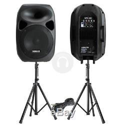 Système D'enceintes De Sonorisation Entièrement Alimenté Avec Supports Truly Portable Mobile Dj Disco Set