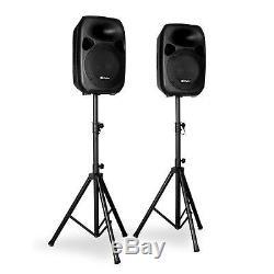Système De Haut-parleurs Dj Pa Disco Actif Ensemble De Stand D'événement Pour Musique De Fête Dj Party 2x 700w Noir